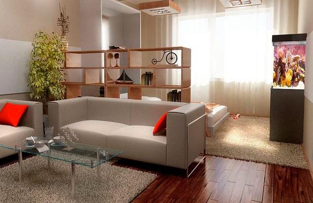 Интерьеры 1-комнатных квартир фото