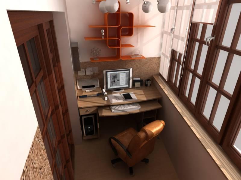 Как сделать рабочий кабинет на балконе.