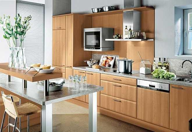 Кухня, оформленная в современном стиле