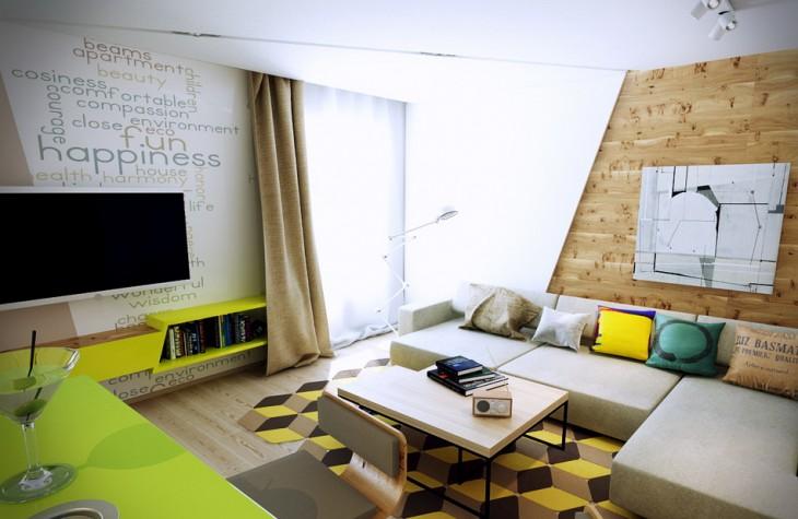 Интерьер квартиры в экостиле
