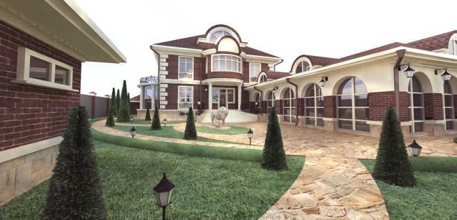 Как украсить фасад загородного дома?