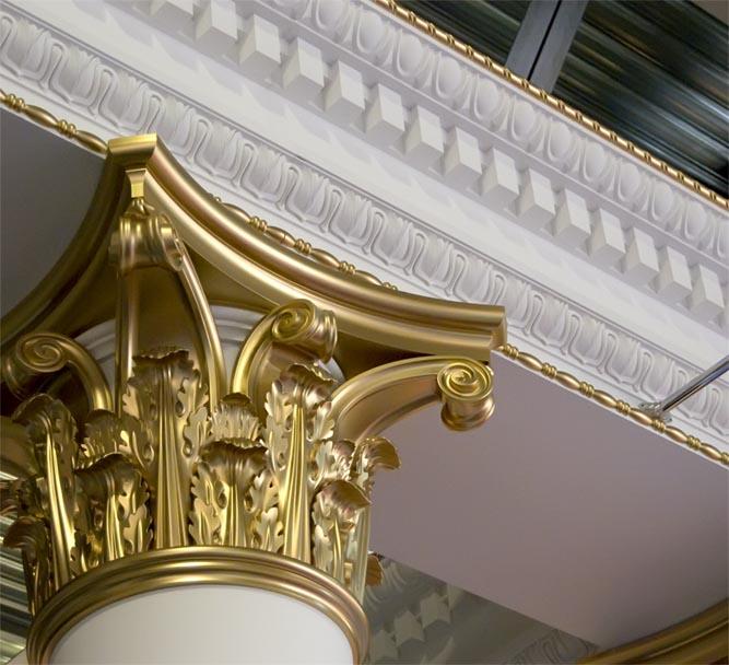 Лепнина из полиуретана - отличный материал для декорирования помещений