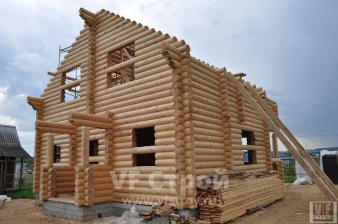 Порядок и этапы строительства дома из бревен