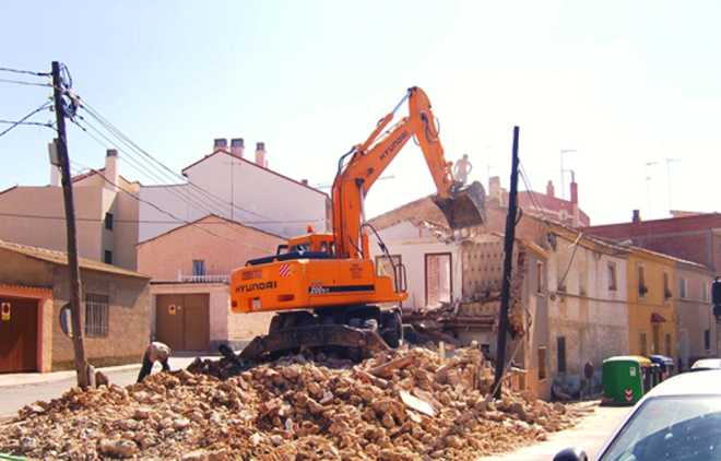 Снос дома в поселке Вешки
