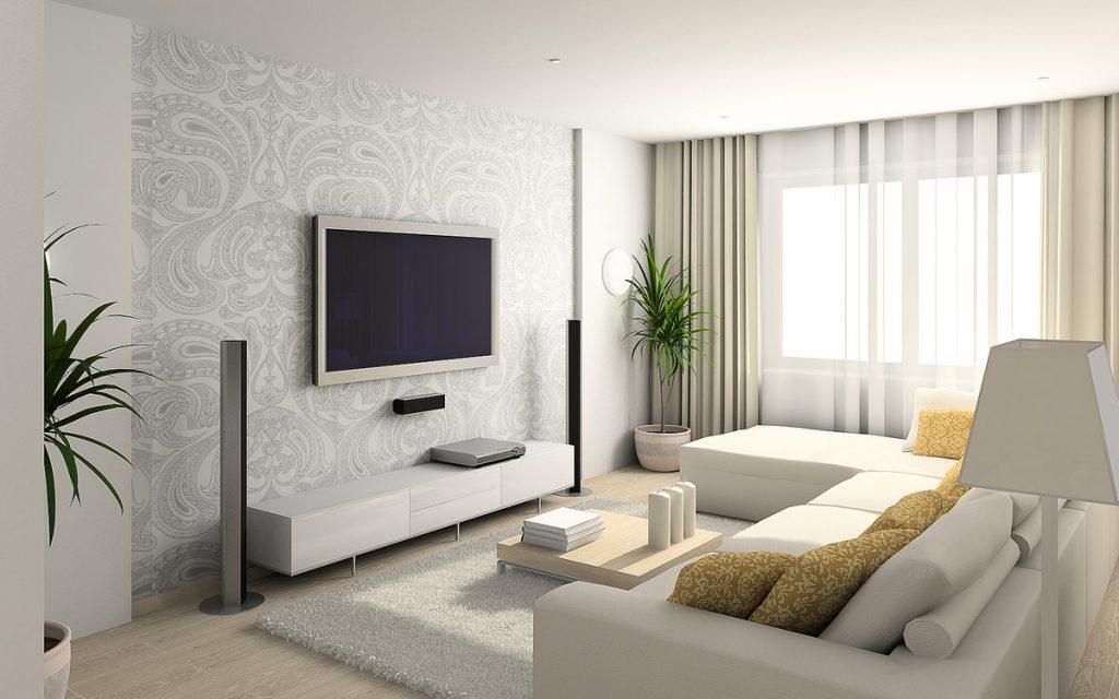 Дизайн обоев для гостиной