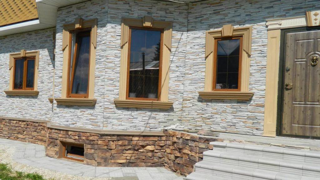 Облицовка искусственным камнем дома