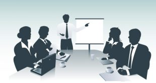 Business presentation byVectorOpenStock