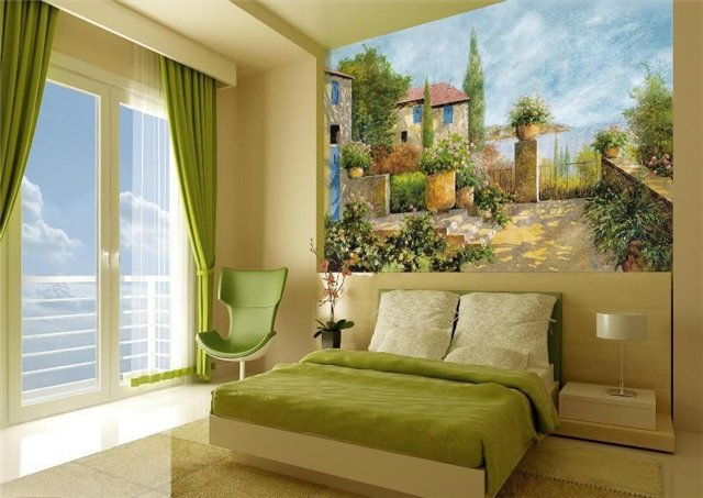 Фрески на холсте в дизайне интерьера