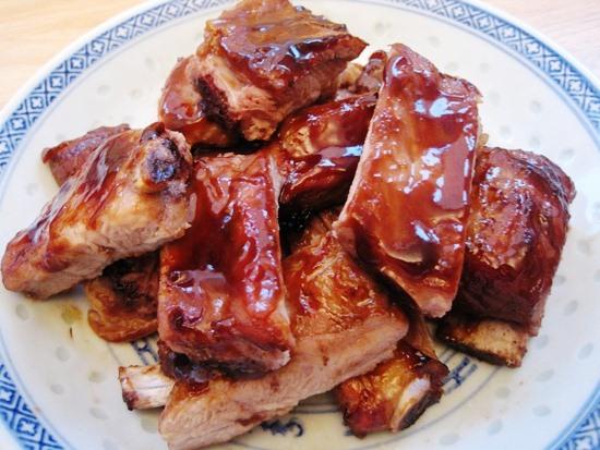 Ребрышки в медово соевом соусе