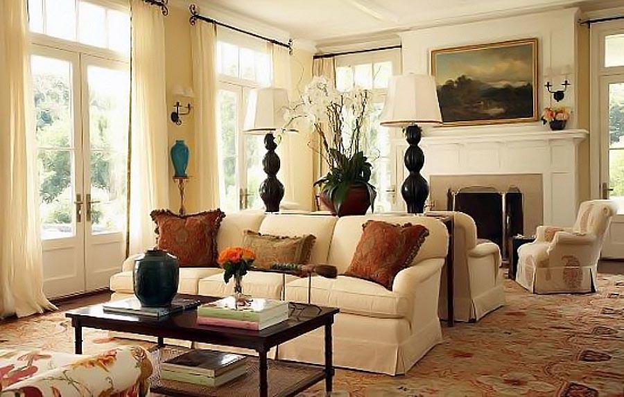 Вариант оформления гостиной в американском стиле