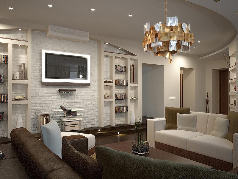 Дизайн-проект интерьера гостиной комнаты