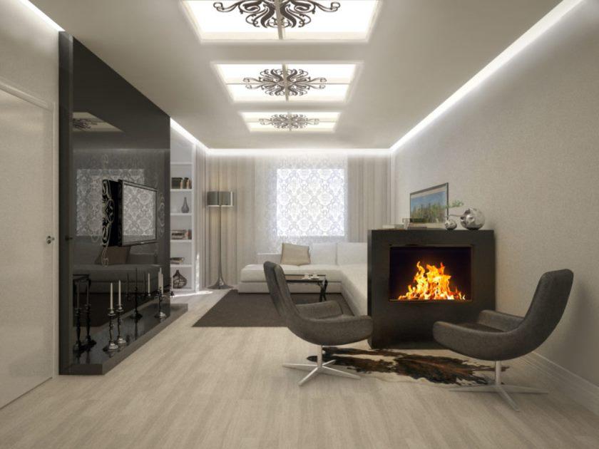 Составление дизайн-проекта интерьера гостиной