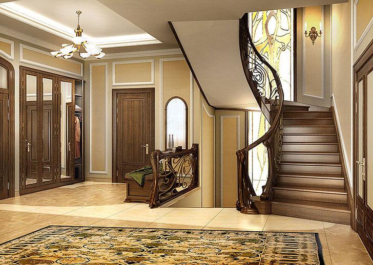 Красивые лестницы в загородном доме